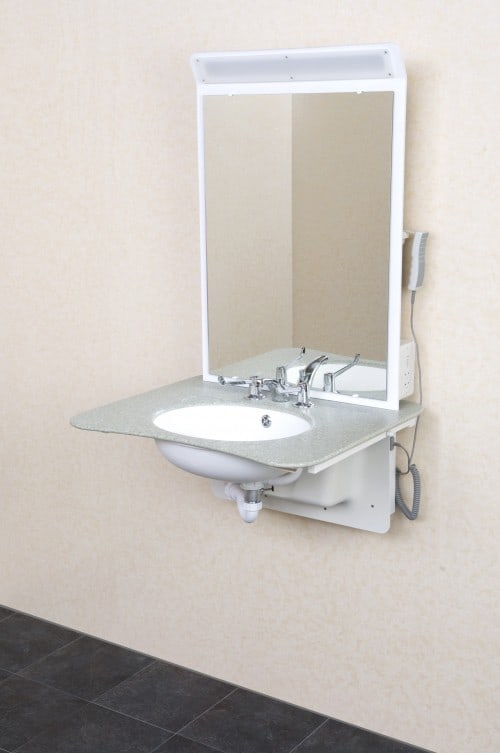 height adjustable washbasin by aveso