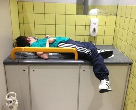josh in heaton park changing room