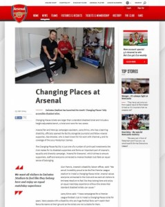 changing places news by arsenal fc