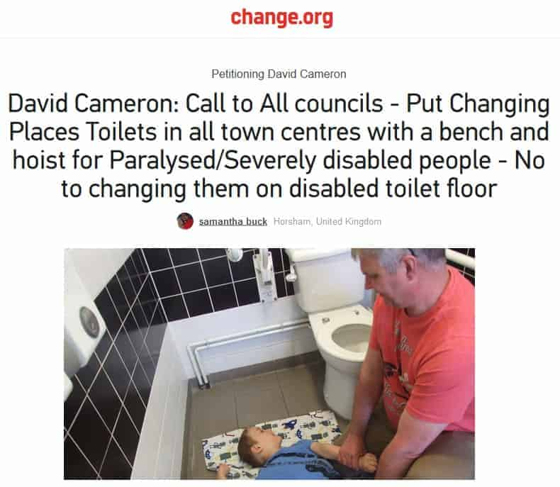 changing places petition